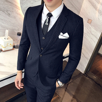 男士青年韩版修身英伦风西服套装