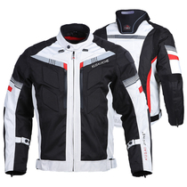 Motorcylating mens and womens heavy locomotive Four Seasons jackets wind-proof 峯 and racing suits to protect against falling pull