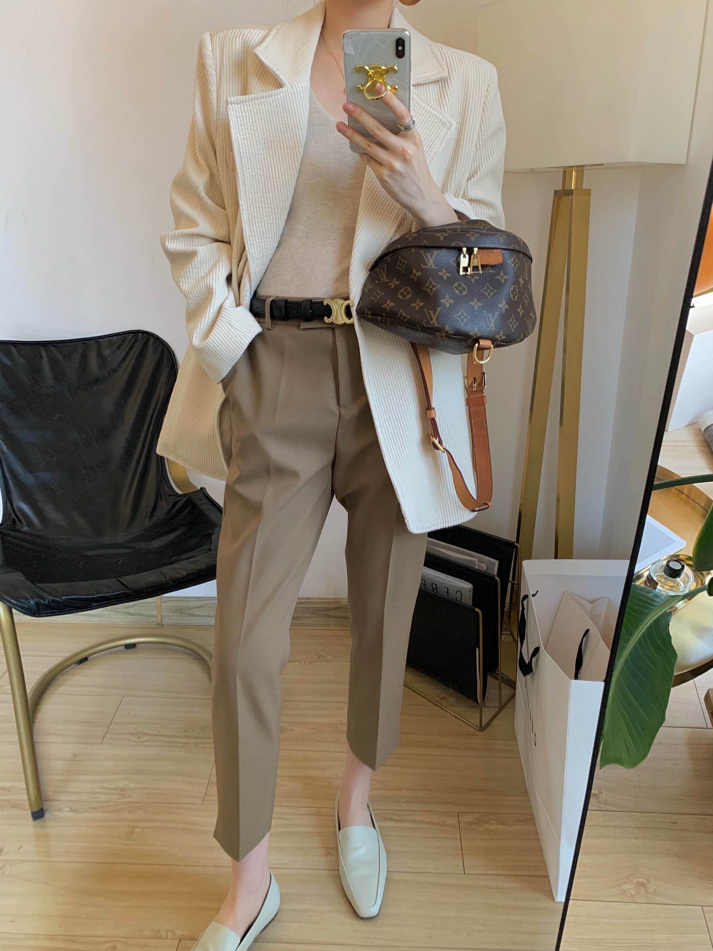 NSS COLLECTION version Chao zheng! Anti-wrinkle ball Ji thin high waist wool nine-point suit pants