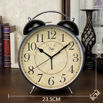 Oversized retro alarm clock living room desktop clock decoration clock American creative Clock mute bedroom Ma Ying