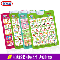 Childrens pinyin sound wall chart early education bump vocal hanging painting literacy fruit Animal Baby Enlightenment cognition Toy