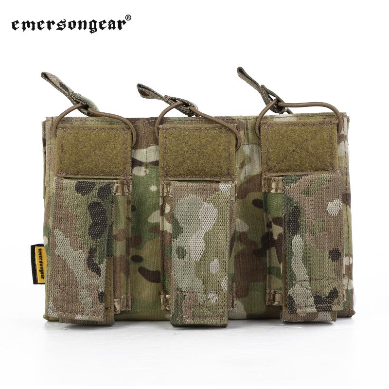 Sac accessoire de gilet Emerson triple clip 5.56 entrepôt à main ouverte supérieure sac veste 3-joint