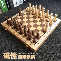 Введение для взрослых учащихся начальной школы в высококачественных твердых древесины западных шахматных классов в маленьких детей магнитных штабелироваться шахматные наборы
