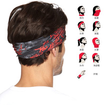 Spanish buff Sports magic headscarf hundred change seamless sunscreen neck outdoor ride running scarf men and women