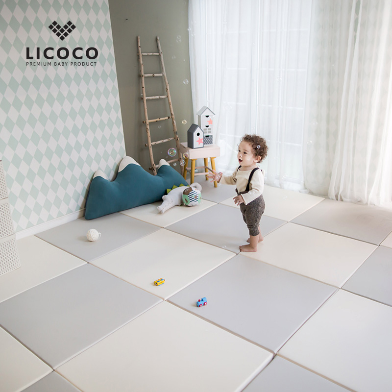 Korean LICOCO baby crawl pad baby thick splice game floor pad crawl environmental protection insipid thick