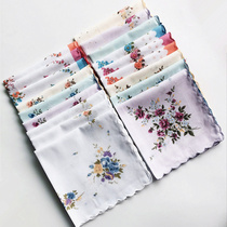 Yan pixel rows of small floral Crescent edge handkerchief ladies handkerchief cotton crisp handkerchiefs of Article 10 from the package