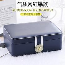 Large capacity Princess European style Korean jewelry storage box Jewelry box Hand jewelry earrings earrings Stud box with lock