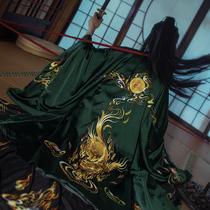 Заказ окрашены оригинальные злые духи Кирин xiangrai большой рукав плащ пальто тяжелая промышленность вышивка традиционные ханьцы для мужчин и женщин осенне-зимних моделей