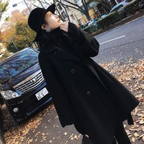 Pregnant woman woolen coat jacket women autumn and winter 2020 new long section woolen loose thickening pregnant jacket