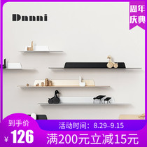 Dnnni Nordic ins living room background wall hanging decorative wallboard shelf without punching