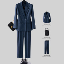 High-end suit suit women Spring and Autumn professional attire jewelry store general manager interview work clothes