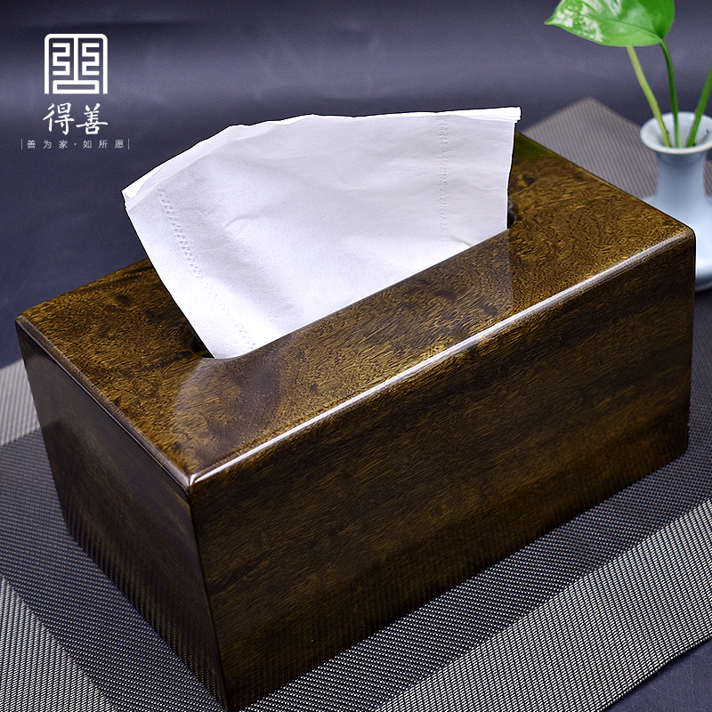 Jin Sinan Sunken Wood Paper Towel Box Chinese Solid Wood Paper Towel Box
