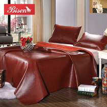 Tashan bison cowhide mat head layer leather double 1 8 M 1 5m three-piece thick natural soft mat summer mat