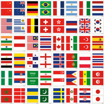 Флаг лицо наклейки татуировки наклейки спортивные игры мяч болельщик Великобритания Франция Италия Бразилия флаг лицо наклейки