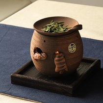Japanese imports often slip burning pure handmade Zen kung fu tea incense stove Cat house incense tea prop gift set