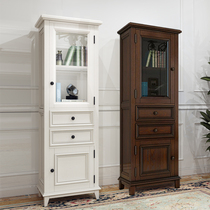 Custom American living room bedroom bathroom side cabinet side cabinet bathroom solid wood storage toilet locker