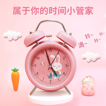 Alarm clock cartoon childrens special alarm clock students with the girl princess cute bedroom silent oversized alarm clock