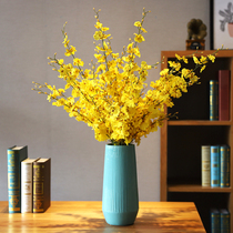 Yellow dancing blue simulation decoration living room Nordic table fake flower decoration New Year TV cabinet spring dried flower bouquet