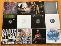 Pop rap electronic funk and other random delivery of 10 packaged 12-inch vinyl old record LP