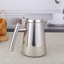 Room stainless steel cold kettle thickened commercial hotel hotel tea kettle plus soup kettle cold kettle restaurant tea kettle.