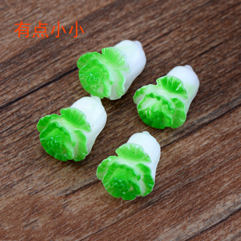 Jade cabbage resin doll jewelry childrens toy birthday gift baking cake dress up the pendulum plug-in