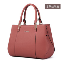 Single shoulder leather Messenger mother Ms. middle-aged leather Tote