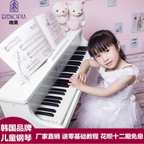 Korea Imports Renopia61 keys baby children piano Beginner electric piano wooden early education toy electronic organ