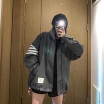 Tom THOM 20 new TB zipper jacket windbreaker mens and womens four-bar stitching stand-up collar stormtrooper jacket