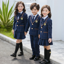 Suit class clothes school uniforms boys and girls three suits spring and Autumn Winter British college kindergarten clothes