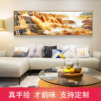 US Kniger painting Landscape oil painting leading office decorative painting living room hotel hanging Yellow River Hukou Waterfall