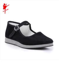 Red Dance shoes Jiaozhou Yangge shoes practice shoes Folk dance test class national Dancing light foam bottom Jiaozhou shoes 1004