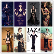 2017 new pregnant woman pregnant women clothing sexy black lace dress pregnant pictures according to the portrait studio photography theme service