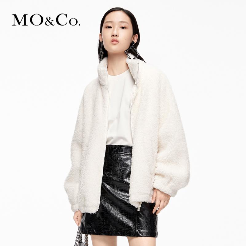 MOCO2020 autumn new collar jacket small yellow flower plush jacket MBO3COT015 Moanjun