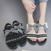 Harajuku summer 2017 Korean version of the new college wind soft sister Rome ulzzang all-match flat sandals female student shoes