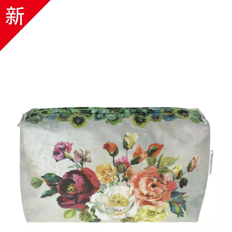 British imported cotton waterproof wash bag makeup bag - rose - medium