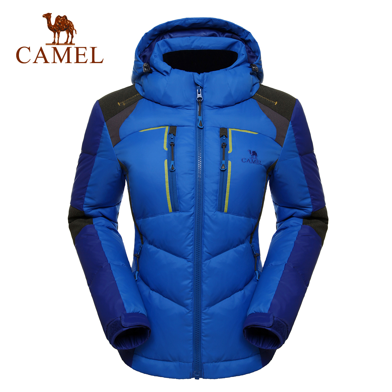 [The goods stop production and no stock][Broken code clearance] camel outdoor female down jacket breathable warm white duck down warm windproof down jacket