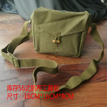 Inventory waterproof battery pack 3521 factory 70 years production 56 thick canvas bag single shoulder bag small military sundry bag