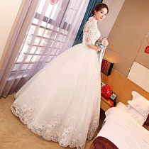 Married European and American Court retro collar simple show thin dress