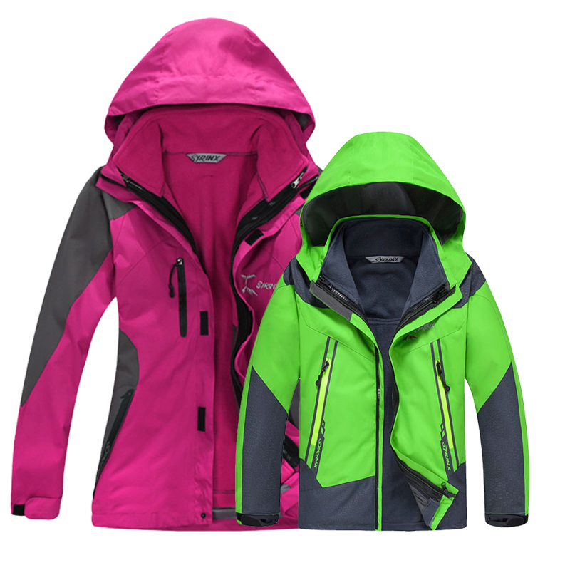 Outdoor stormwear men's and women's three-in-one two-piece waterproof genuine mountaineering clothes parents and children's thick children's jacket