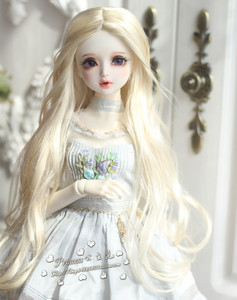 6-7inch Long Curly Princess Mohair Doll Wigs Soft 1//6 BJD Doll Wig 5 color JD187