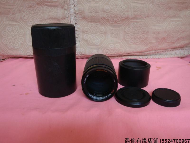 Early Soviet-made M42 screw 37AM 3.5 135 lens old camera equipment items nostalgic old objects
