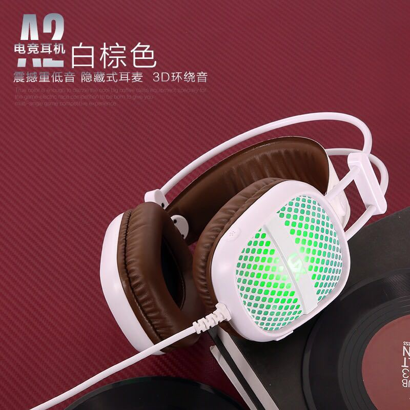 Glowing cyber bar anti-detonation headphone led computer headset headset game high quality sound