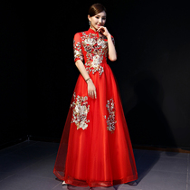 Adult autumn red party dress dress