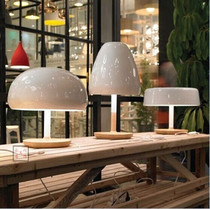 Nordic style table Lamp creative personality Modern simple white wooden mushroom head bedroom living room bedside decorative lights