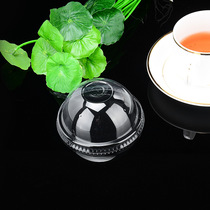 Disposable 90 95 ball cover thickened plastic cup milk tea cup Juice cup special transparent ball Gaiping cover 500