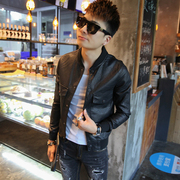 Zhen Xuan house new original motorcycle leather collar personality male youth handsome Korean zamarra tide