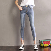 Korean version of elastic thin size from spring to summer slim feet pants