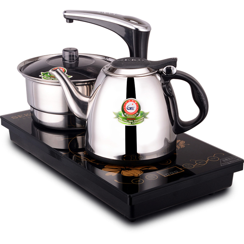 Seko Xingong F16 electric tea stove automatically water three-in-one stainless steel electric kettle plus waterer tea set