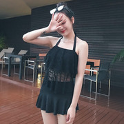 2017 new Korean swimsuit Slimming Body sexy swimsuit Swimsuit Cover belly conservative set of two female students in summer