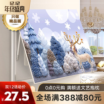 Meter box decorative painting non-punching block distribution box switch box Total switch modern simple multimedia hanging painting